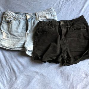Mid rise shorts from Tilly's blue and black